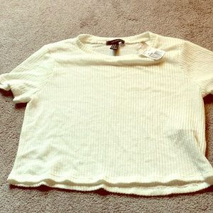 Beige Knitted Crop Top